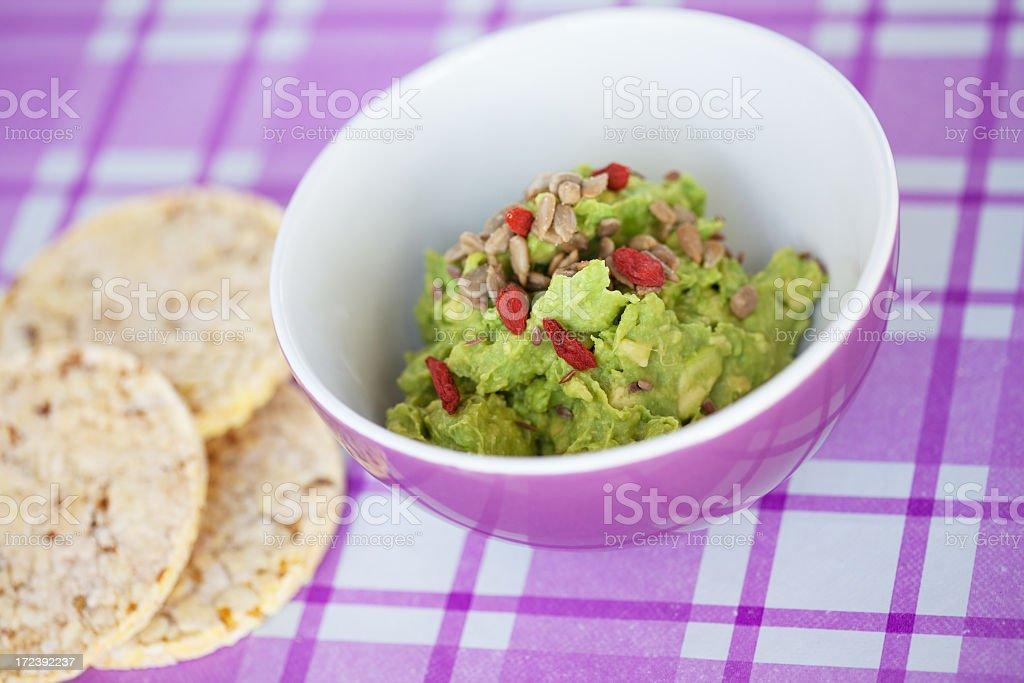 Healthy Guacamole royalty-free stock photo
