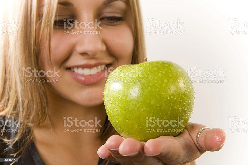 Healthy Habits / Green Apple 2 stock photo