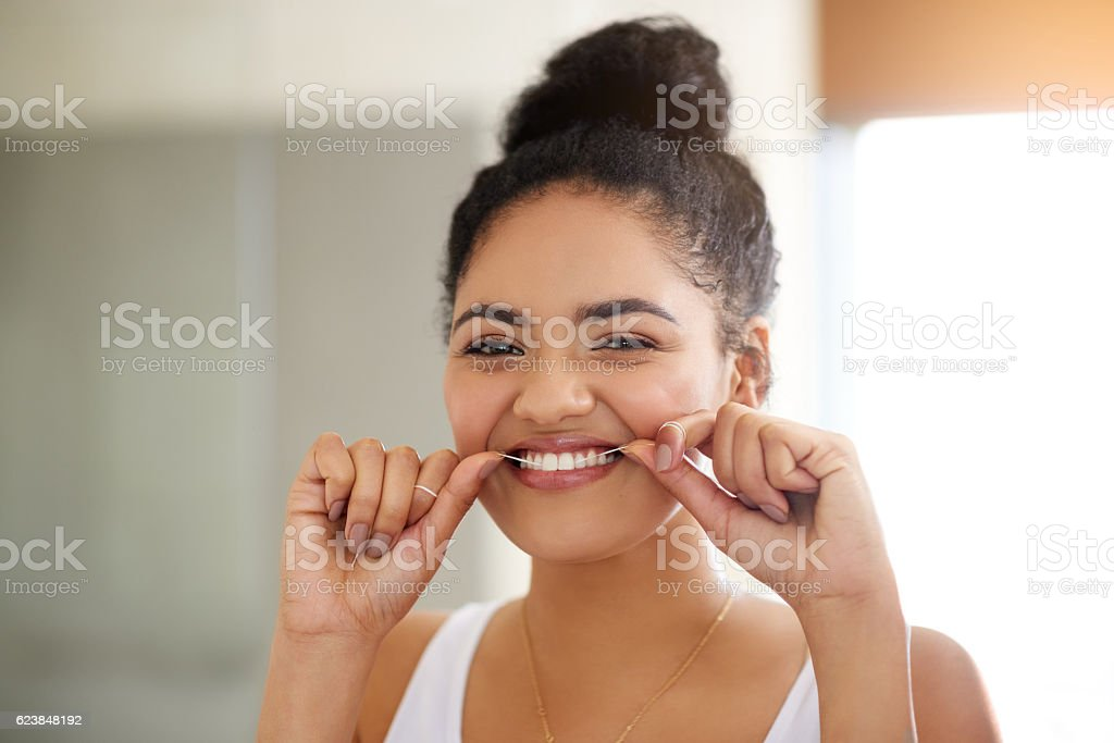 Healthy habits, healthy teeth stock photo