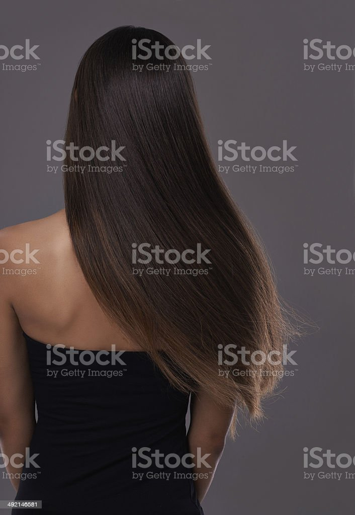 Healthy hair at it's best! stock photo
