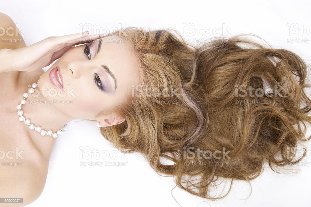healthy hair royalty-free stock photo