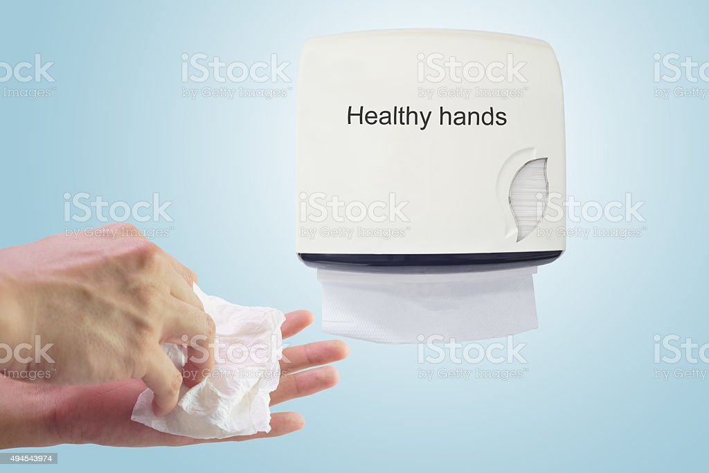 Healthy hand : Cleaning hands stock photo