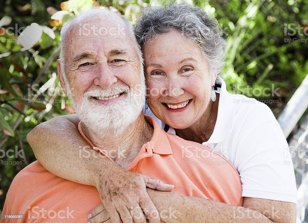 Healthy Happy Senior Couple stock photo
