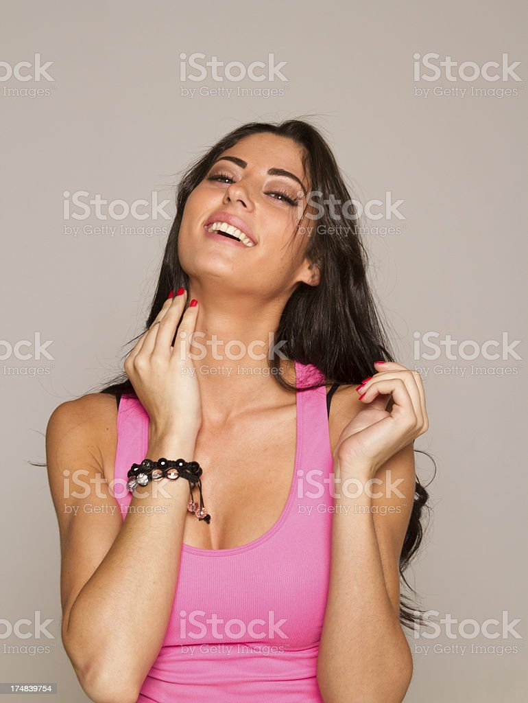 Healthy happy young woman royalty-free stock photo