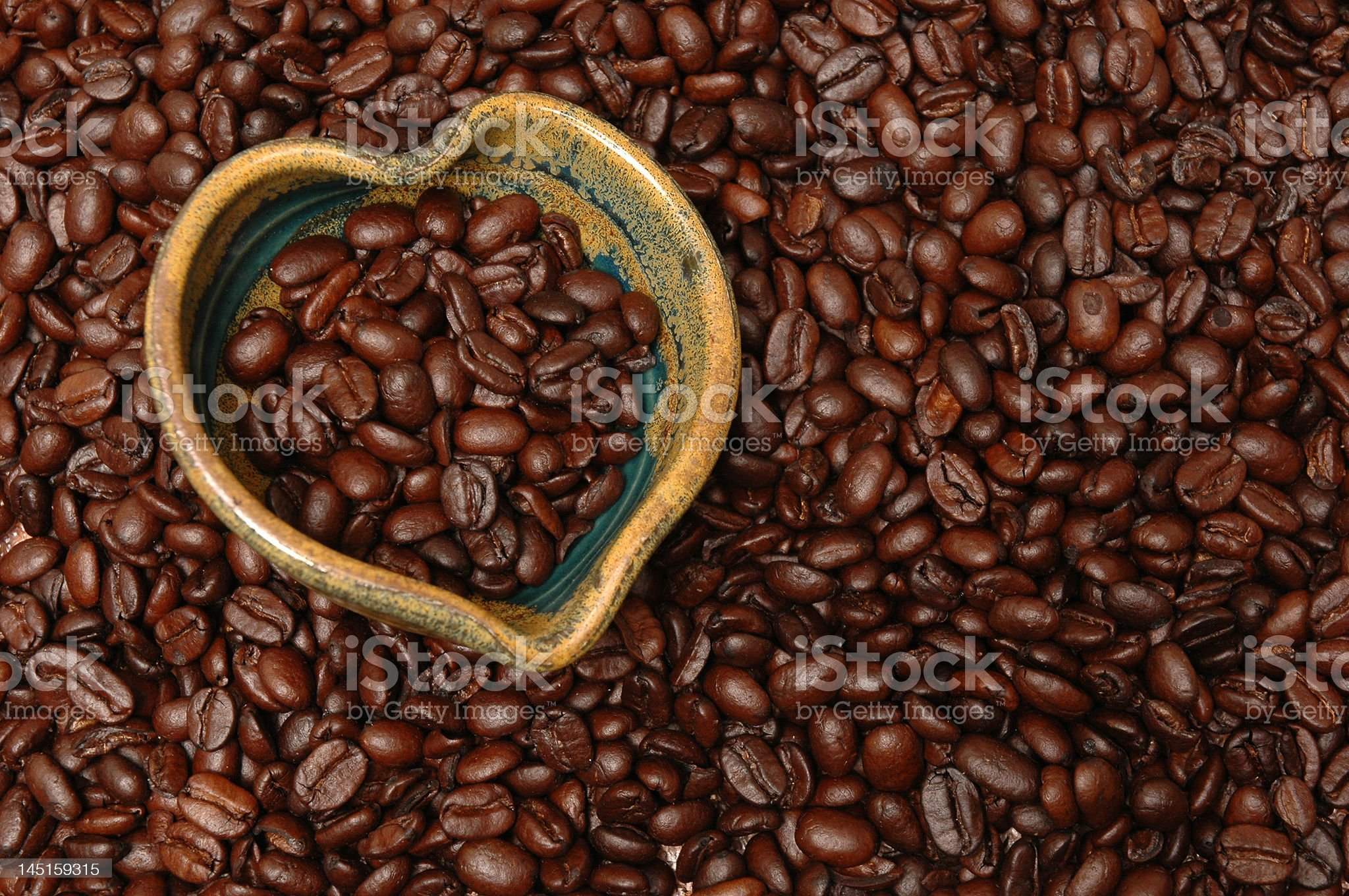 Healthy Heart coffee beans royalty-free stock photo