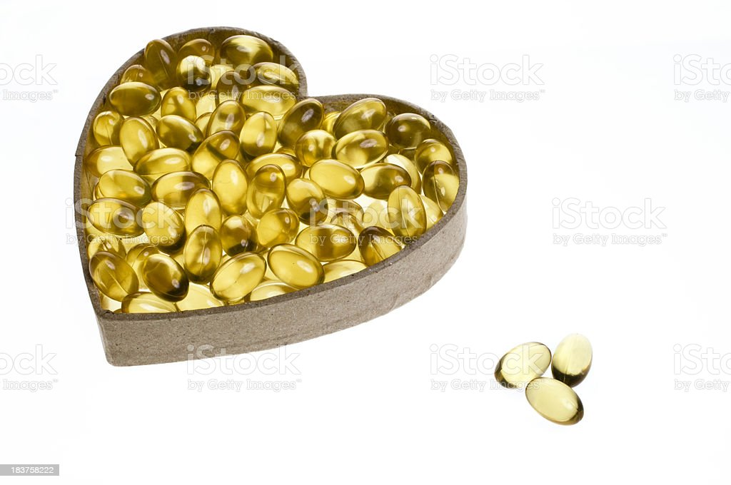 Healthy Heart Concept White Background stock photo
