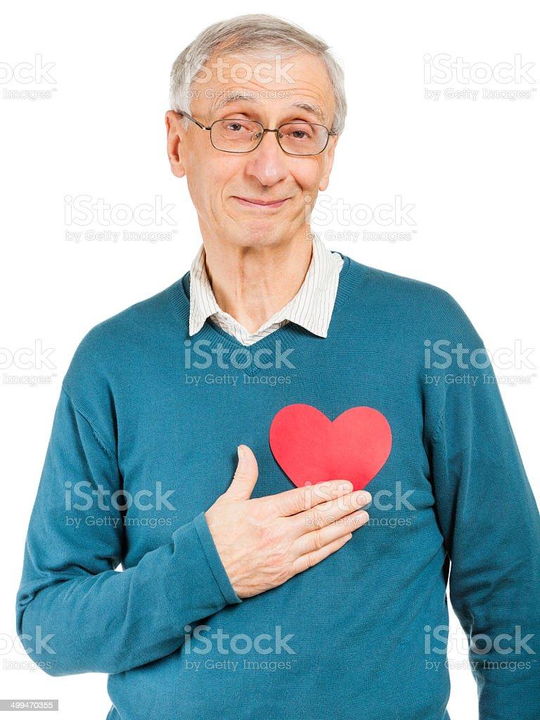 Healthy Hearted Senior royalty-free stock photo