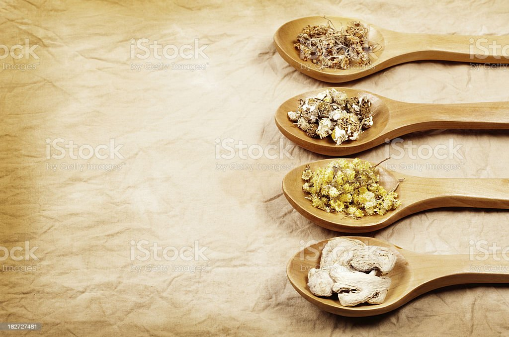 Healthy herbs background royalty-free stock photo