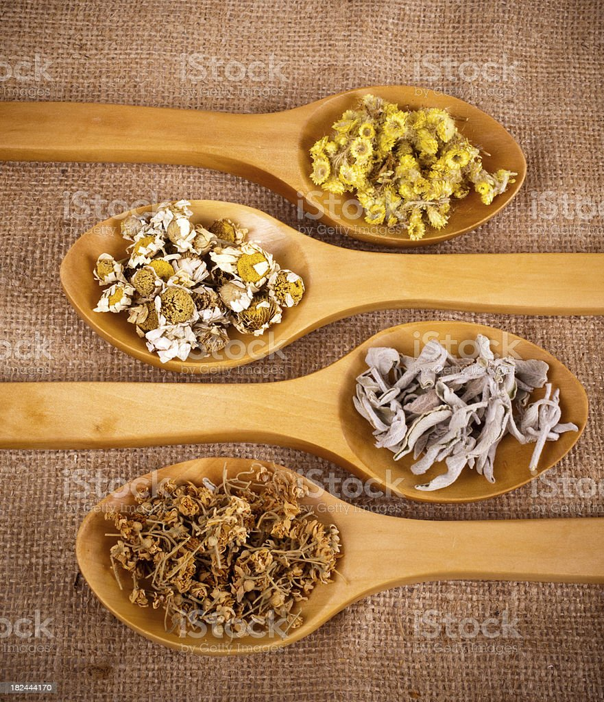 Healthy herbs stock photo