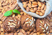 Healthy homemade almond cookies without butter and flour