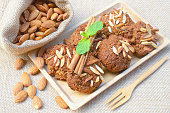Healthy homemade almond cookies without butter and flour,