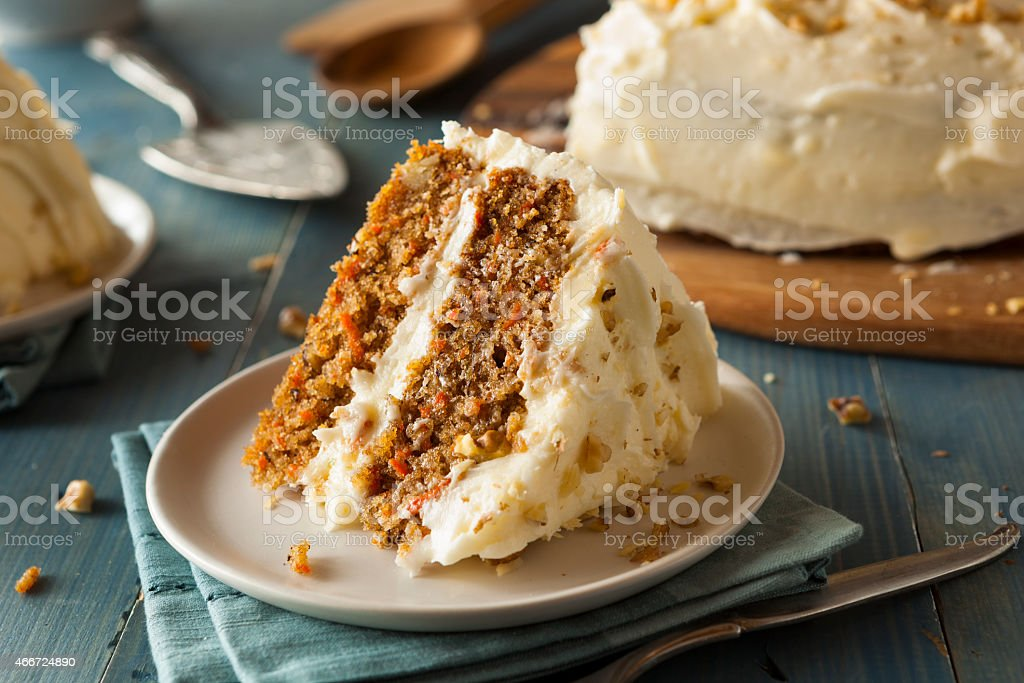 Healthy Homemade Carrot Cake stock photo
