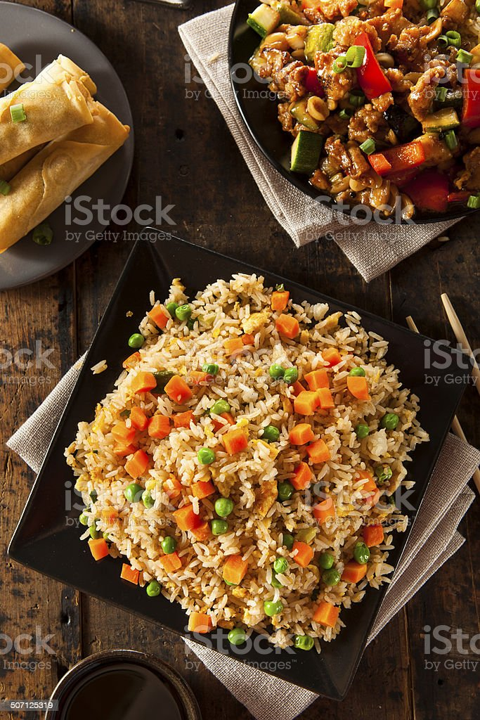 Healthy Homemade Fried Rice stock photo