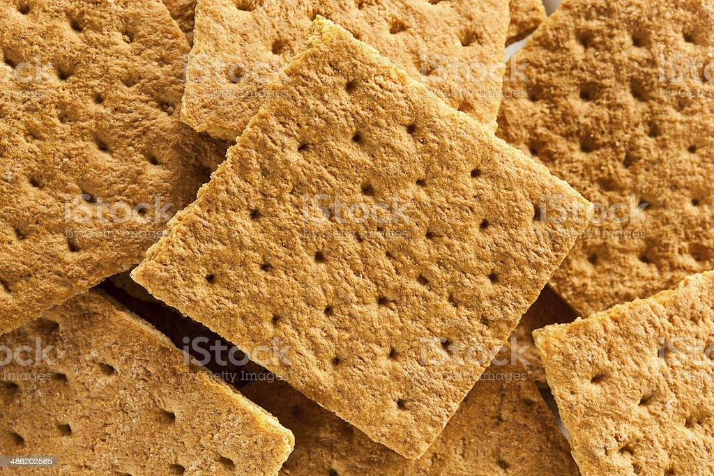 Healthy Honey Graham Crackers stock photo