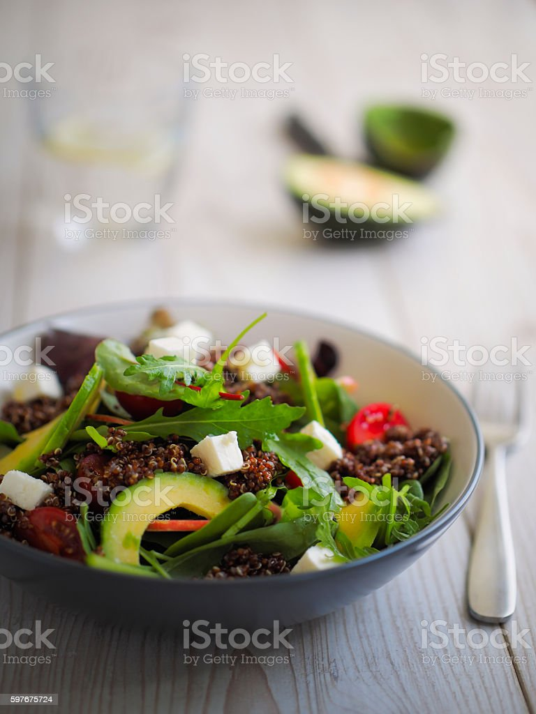 Healthy house salad stock photo