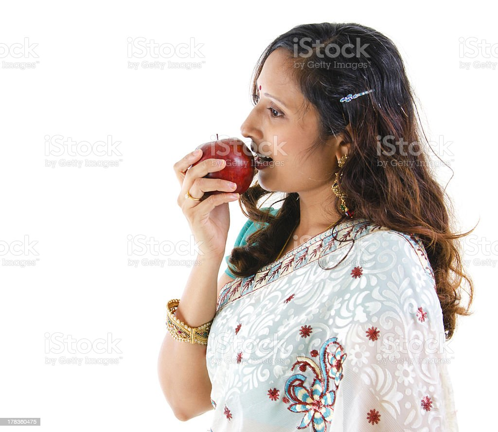 Healthy Indian woman stock photo