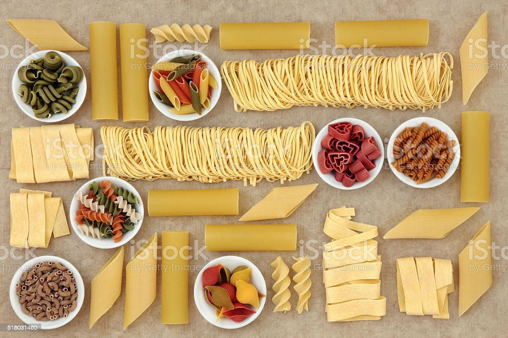 Healthy Italian Pasta Collection stock photo