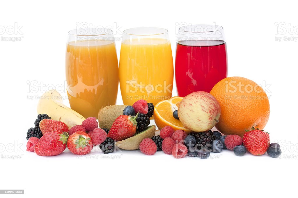 Healthy juice and fruit royalty-free stock photo