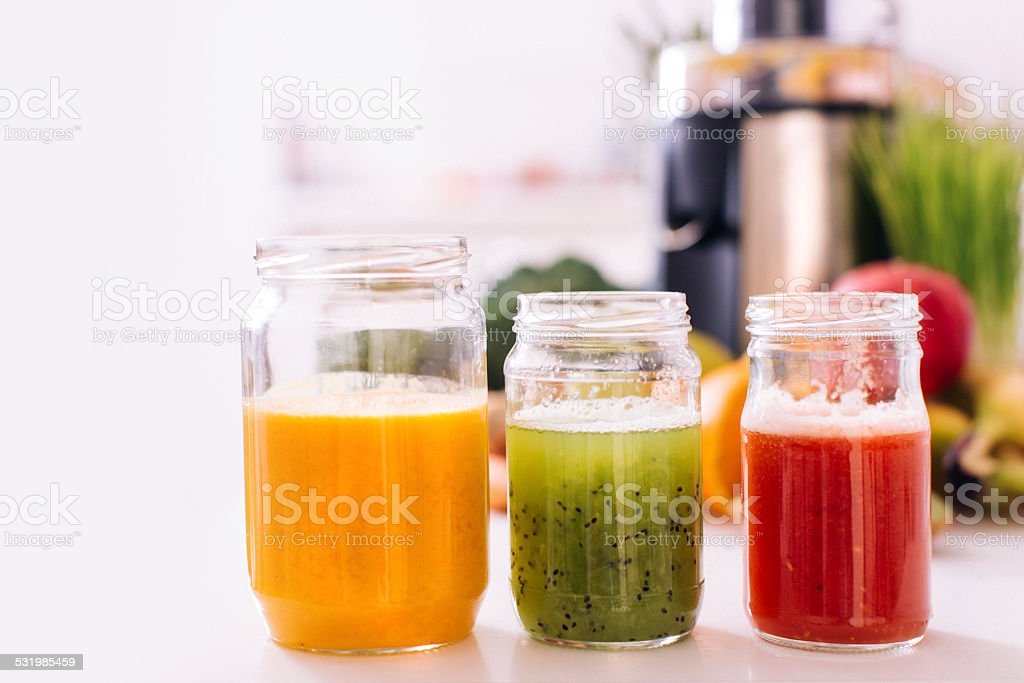 Healthy juices stock photo