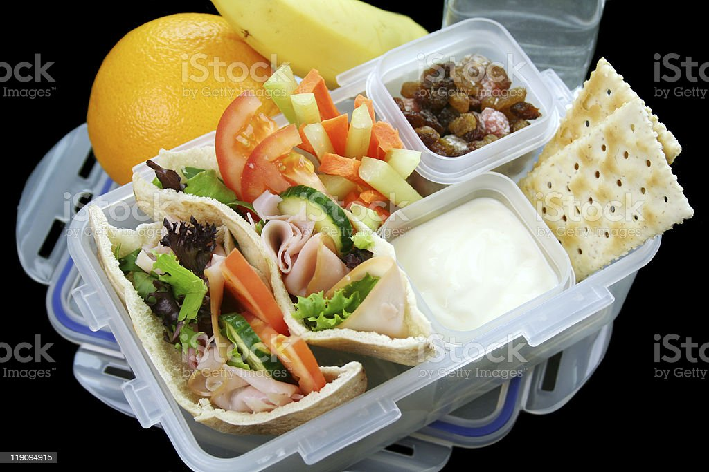 Healthy Kids Lunch Box stock photo