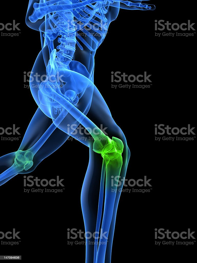 healthy knee stock photo