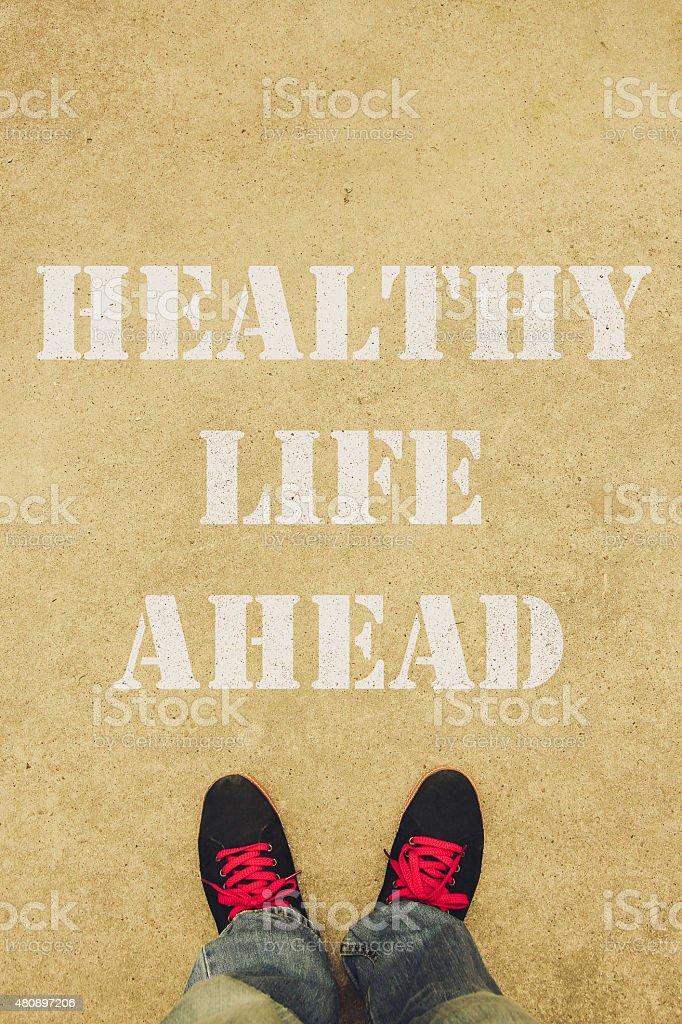 Healthy life ahead stock photo