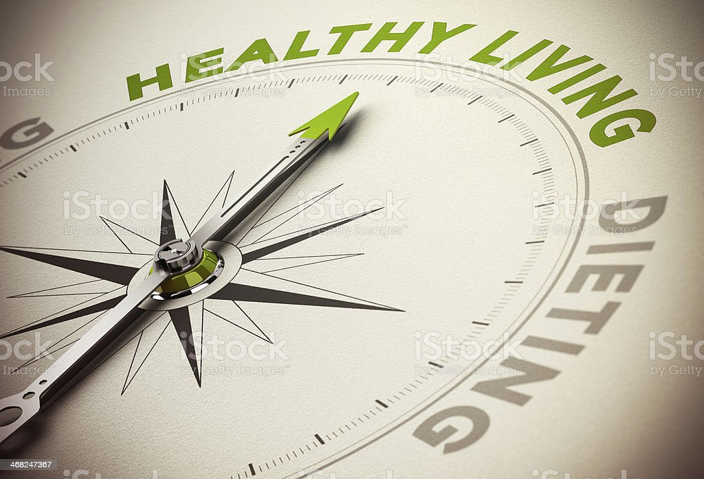Healthy Life Style VS Diet Concept stock photo
