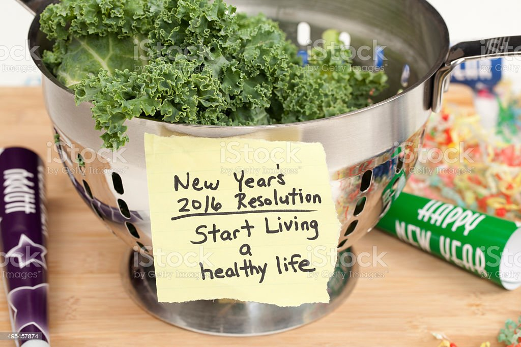 Healthy Lifestyle 2016 New Years Resolution stock photo