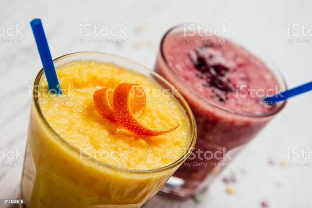 Healthy lifestyle and vitality with fruit smoothies on vintage background stock photo