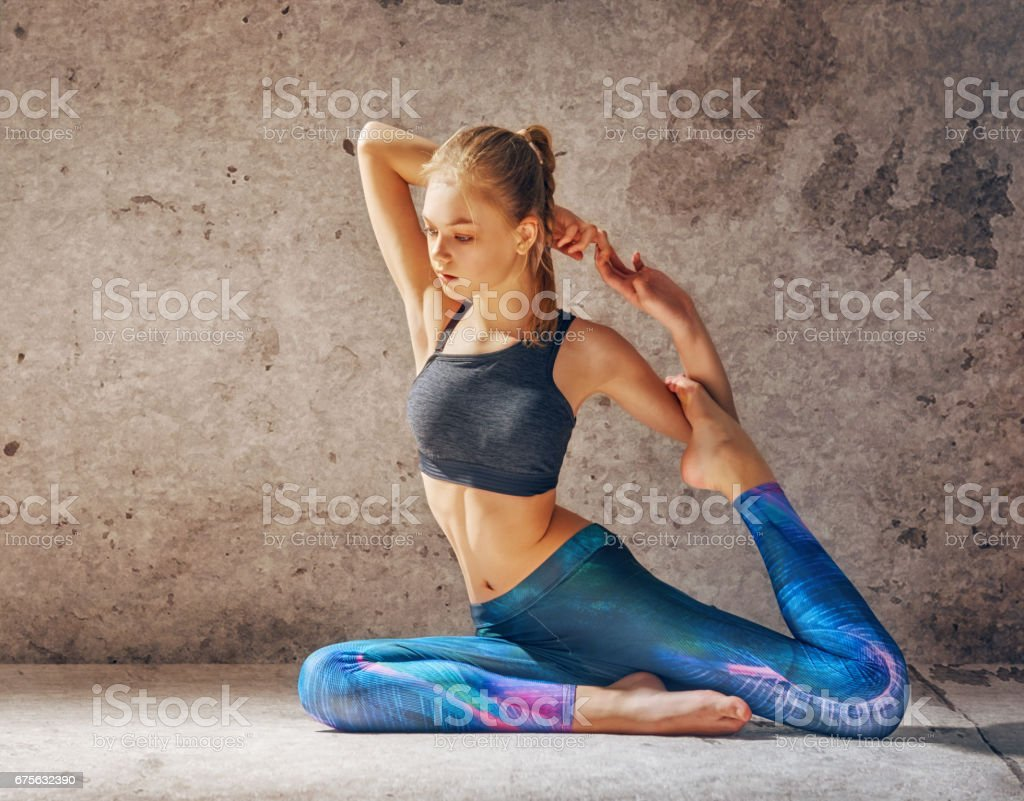 Healthy lifestyle and yoga concepts stock photo