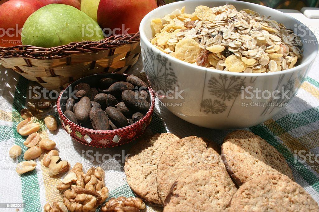 Healthy lifestyle - best food to eat for breakfast stock photo