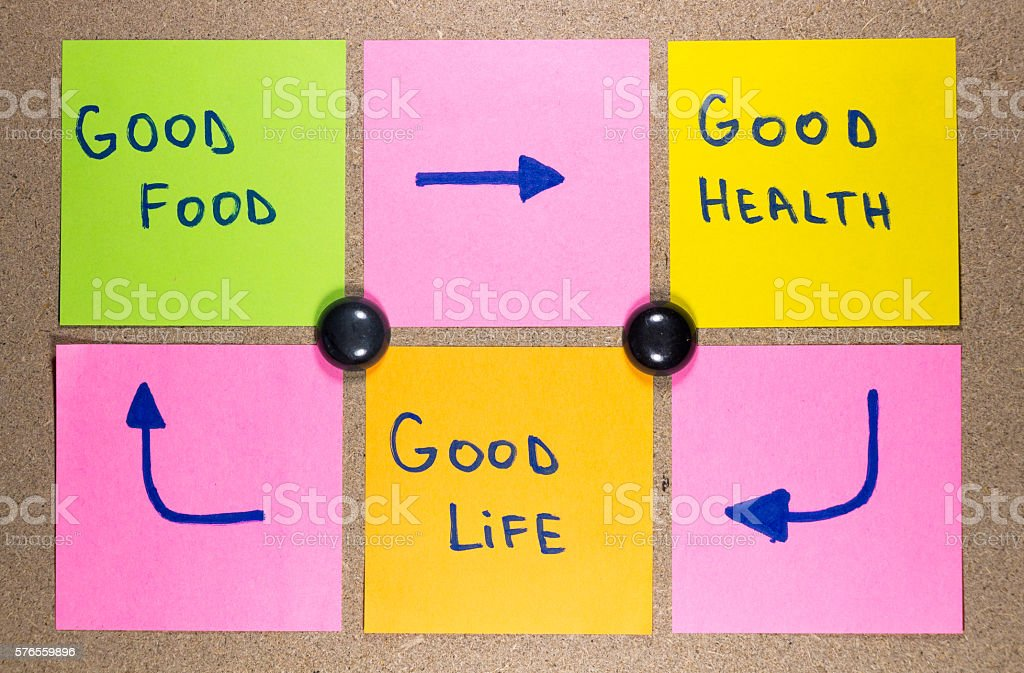healthy lifestyle concept, good food, health and life stock photo