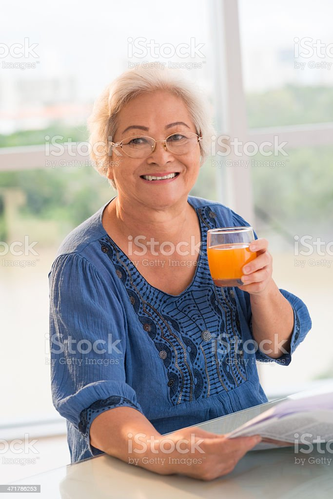 Healthy lifestyle for seniors royalty-free stock photo