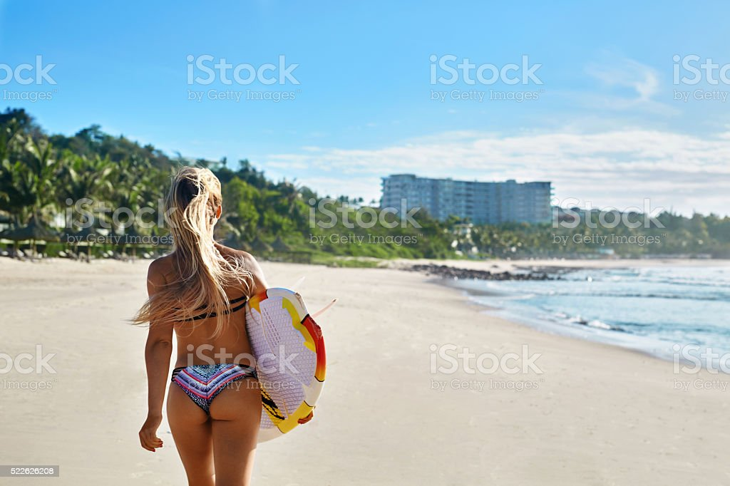 Healthy Active Lifestyle. Surfing. Water Sports. Beautiful Athletic...