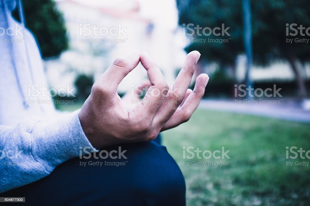 Healthy Lifestyle - Yoga in the morning stock photo
