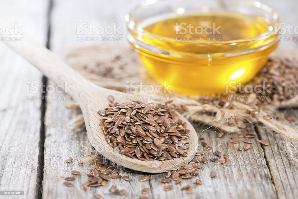 Healthy Linseed Oil stock photo