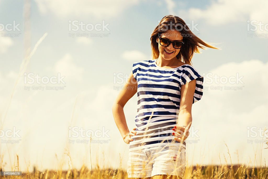 Healthy living and life balance with nature in everyday life stock photo
