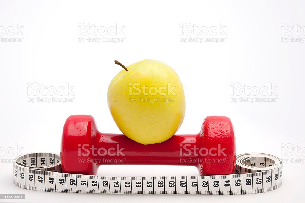 Healthy Living - nutrition & exercising royalty-free stock photo