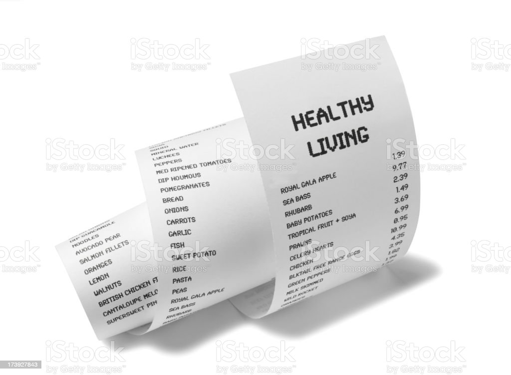 Healthy Living on White Paper stock photo