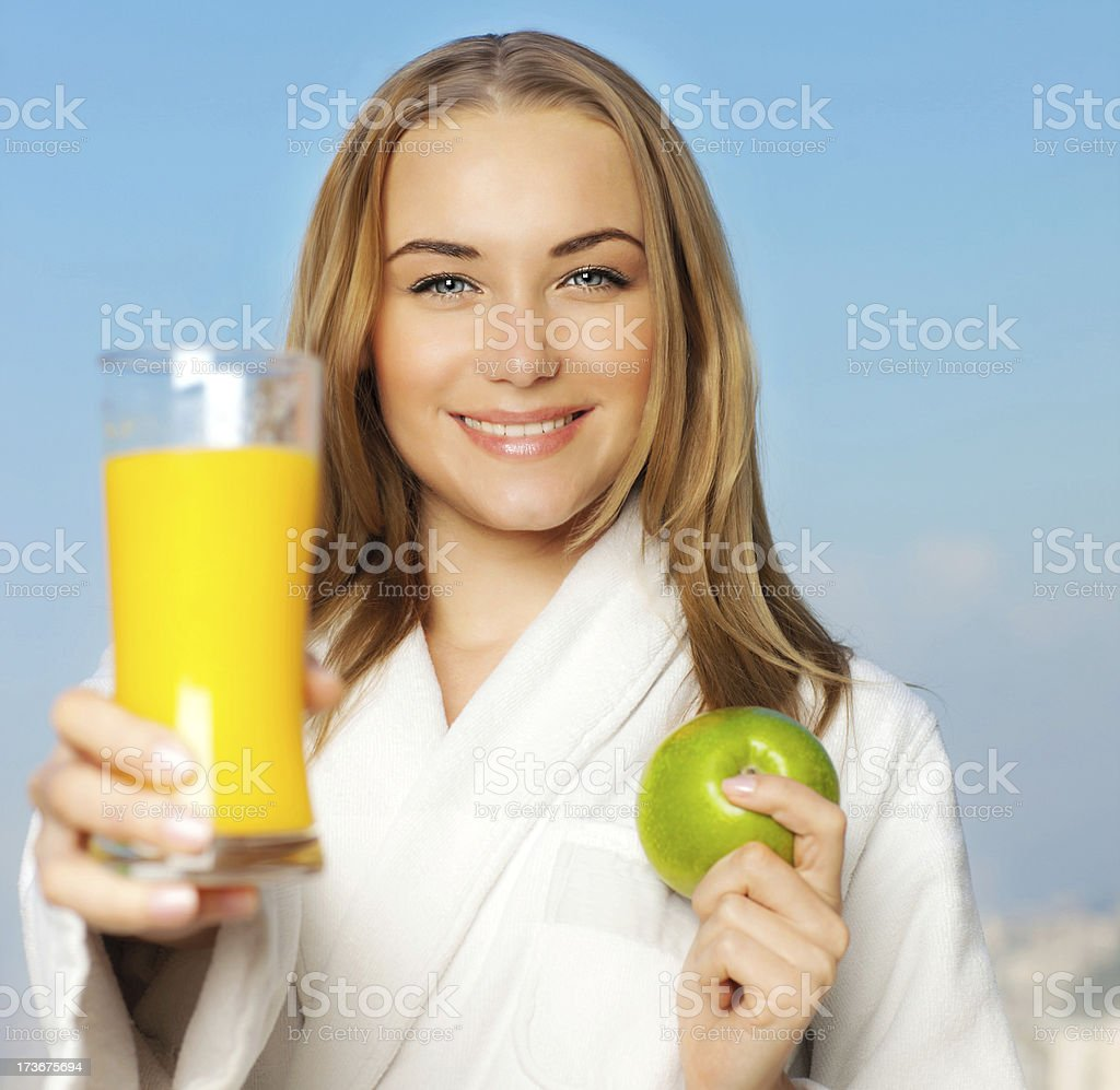 Healthy lovely young woman dieting royalty-free stock photo