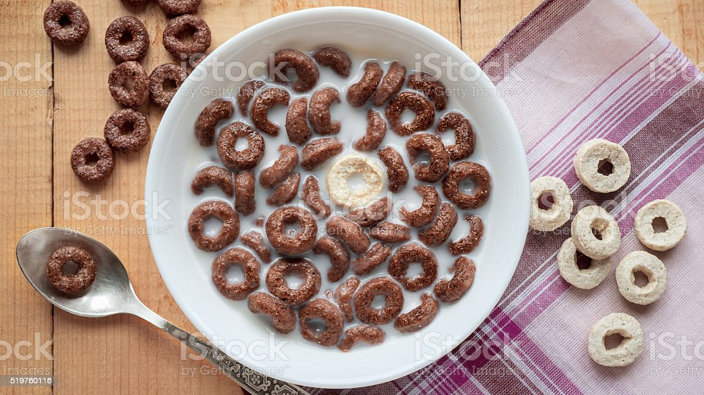 Saudável almoço-anéis de cereais foto de stock royalty-free