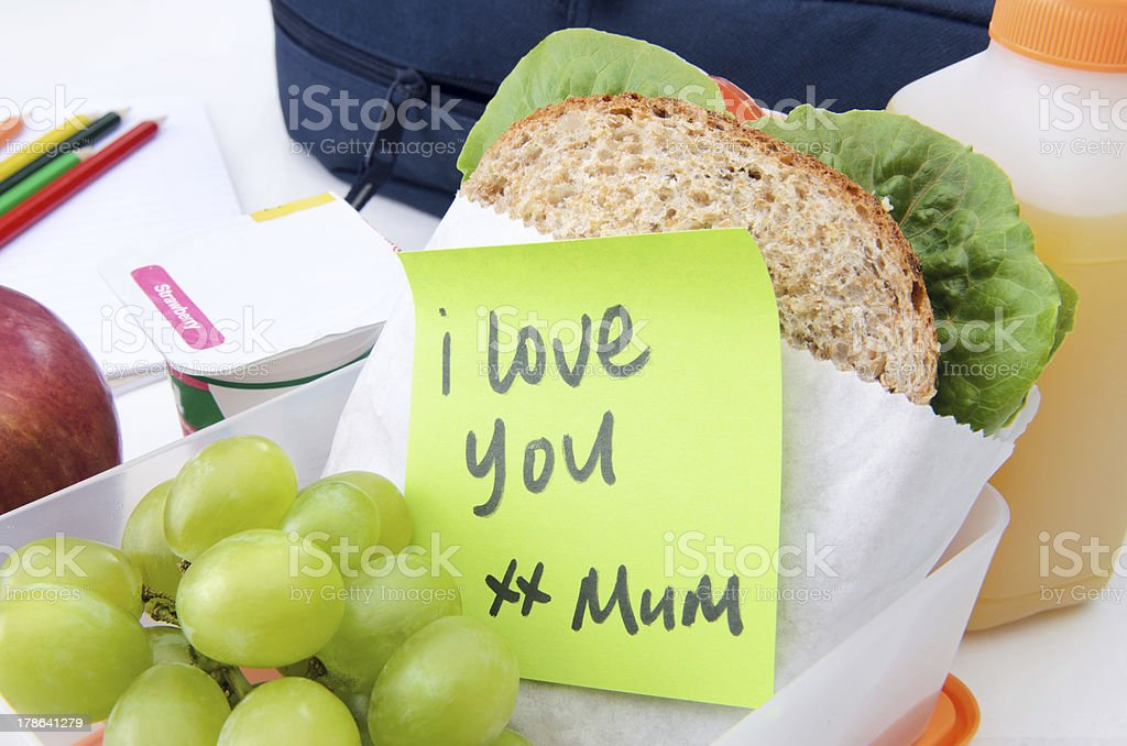 Healthy lunchbox stock photo