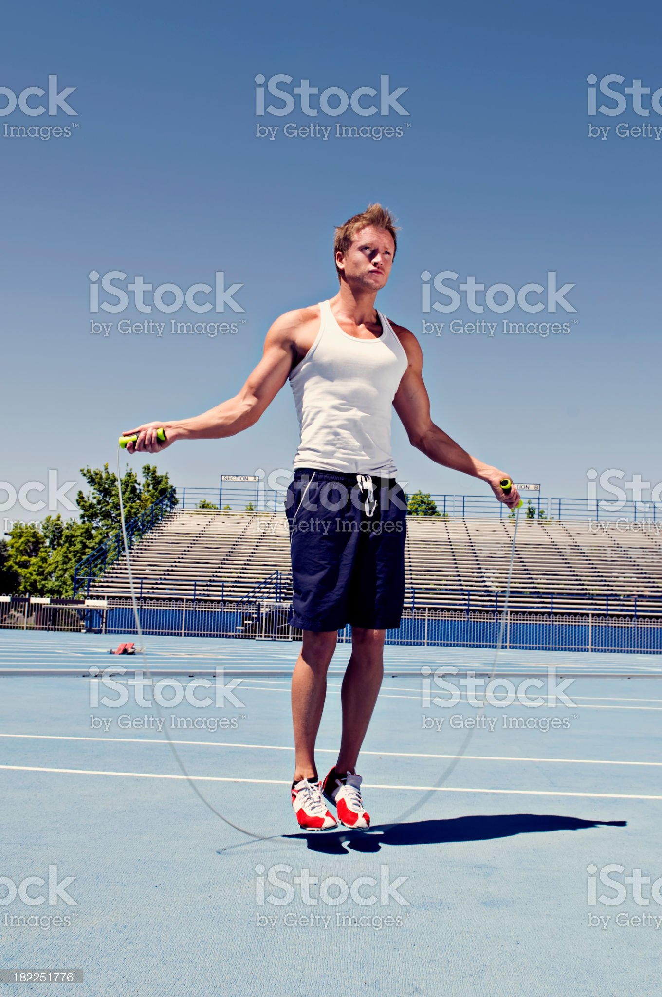 Healthy Man Jumping Rope royalty-free stock photo