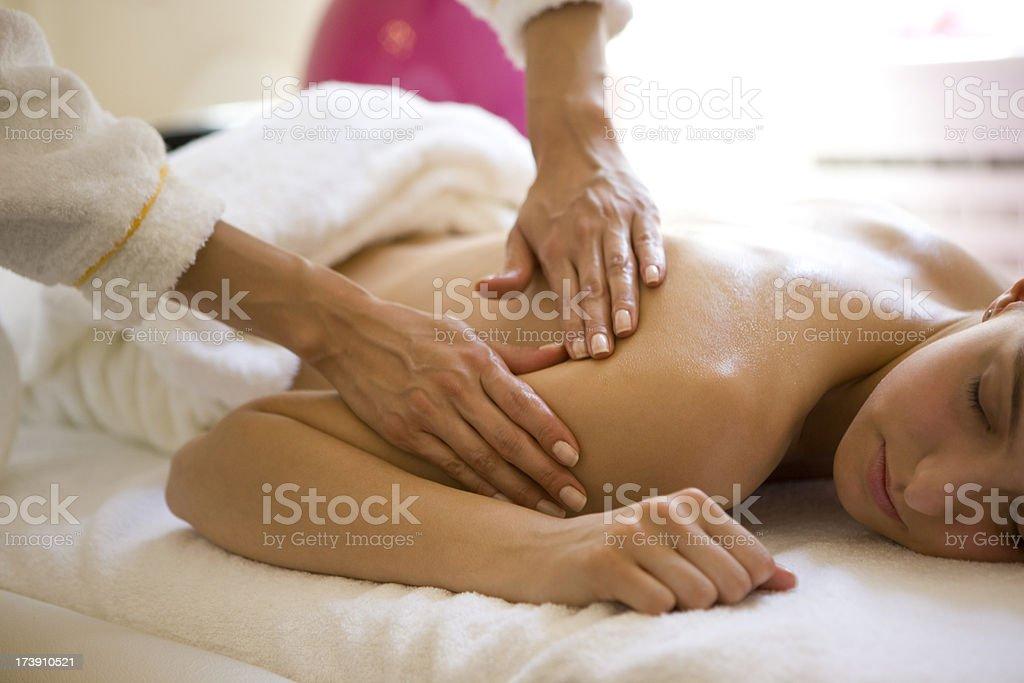Healthy massage royalty-free stock photo