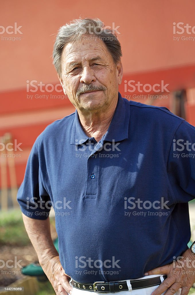 Healthy mature man royalty-free stock photo