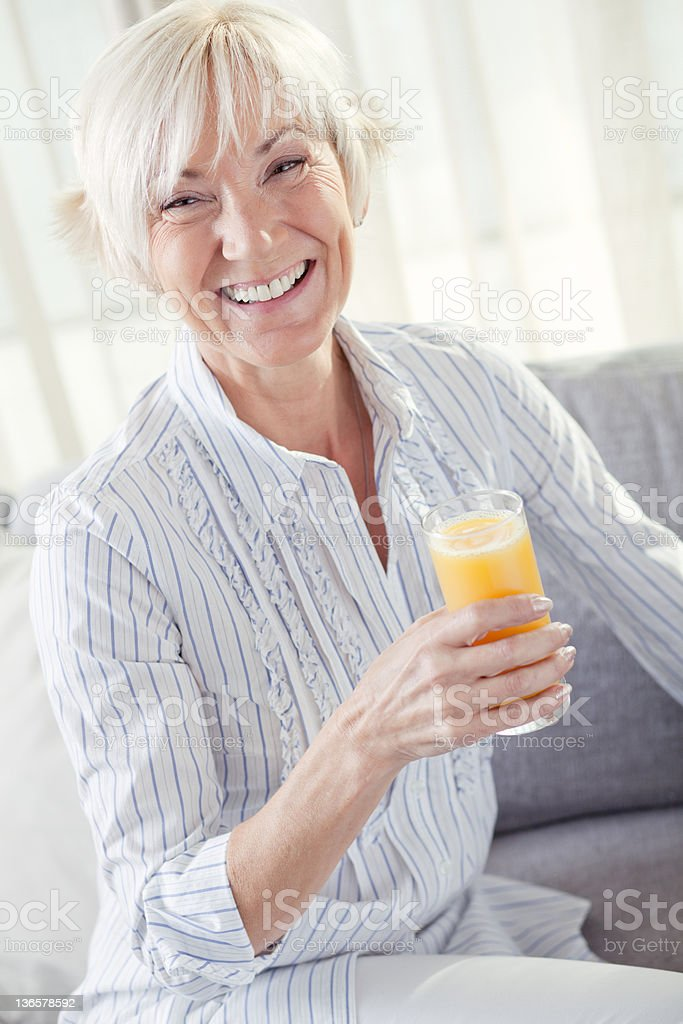 Healthy Mature Woman royalty-free stock photo