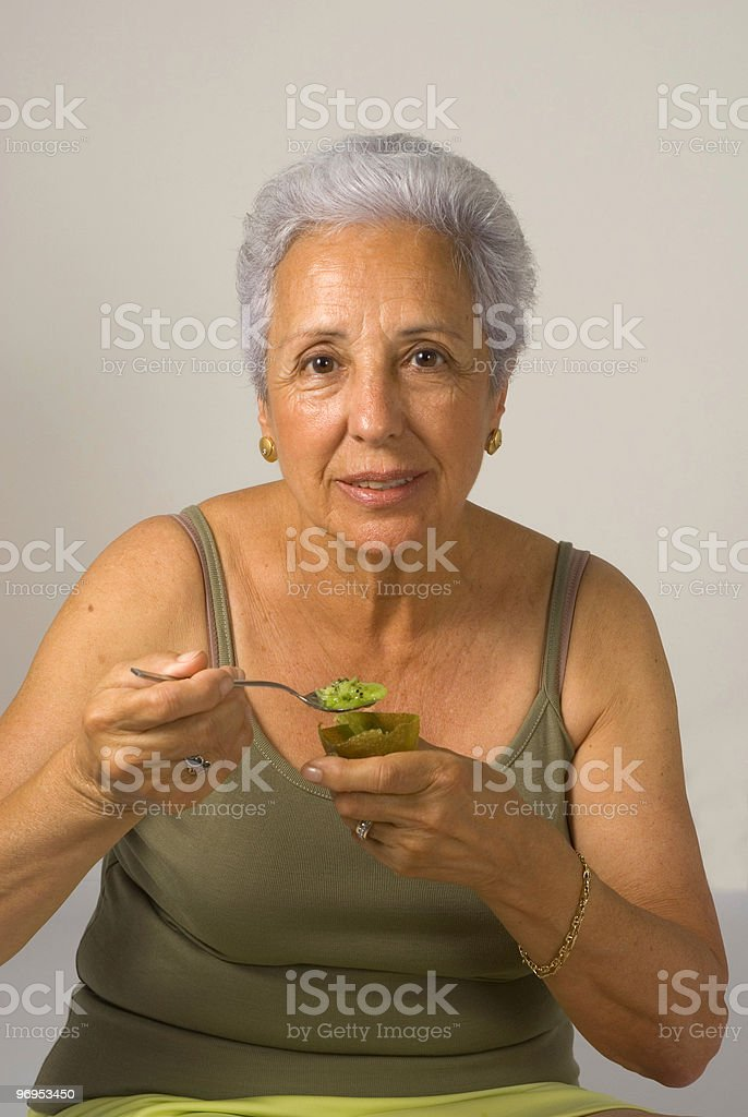 Healthy meal afeter excercising royalty-free stock photo