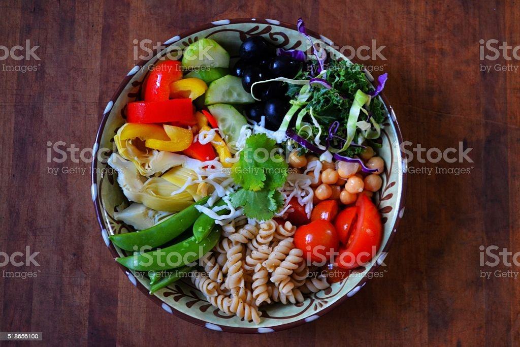 Healthy meal with fresh vegetables ina bowl stock photo