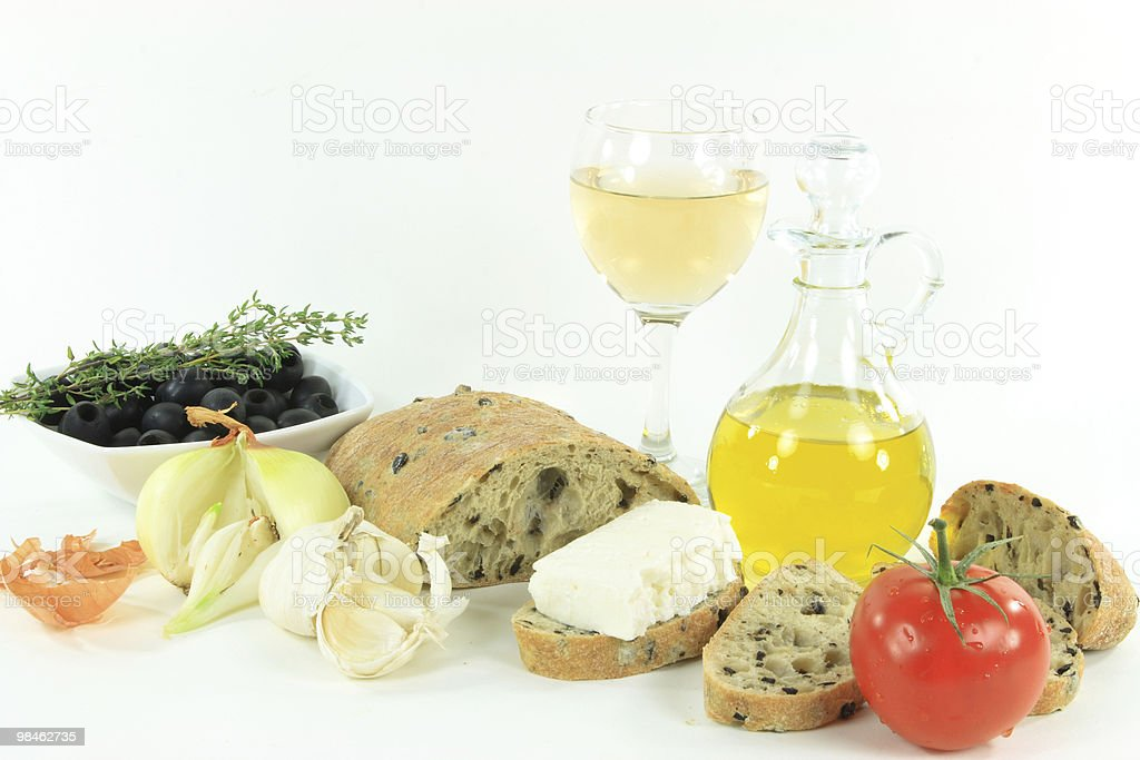 Healthy Mediterranean lunch. royalty-free stock photo