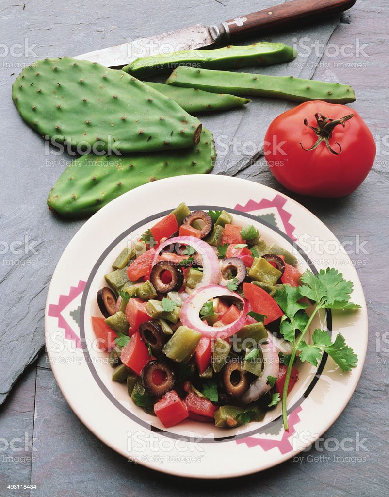 Healthy mexican salad stock photo